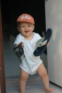 Josh - ready to walk to end MS in mom's shoes