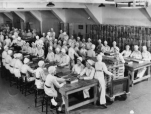 GECO WWII Munitions Plant Workers Filling Fuses