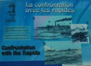 Navigation Plaque at the La Chine Rapids west of Montreal