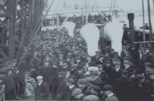 Immigrant Ship Disembarking - Partridge Island, New Brunswick