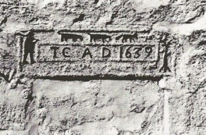 Stone Inscription on Timothy Cragg's Homestead, Wyersdale, England